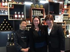 Sterneköchin Sarah Henke (v.l.), Gastrofee Marleen Gaida, Sommelière Christine Fischer