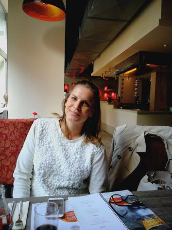 GastroFee Charlotte beim Lunch.
